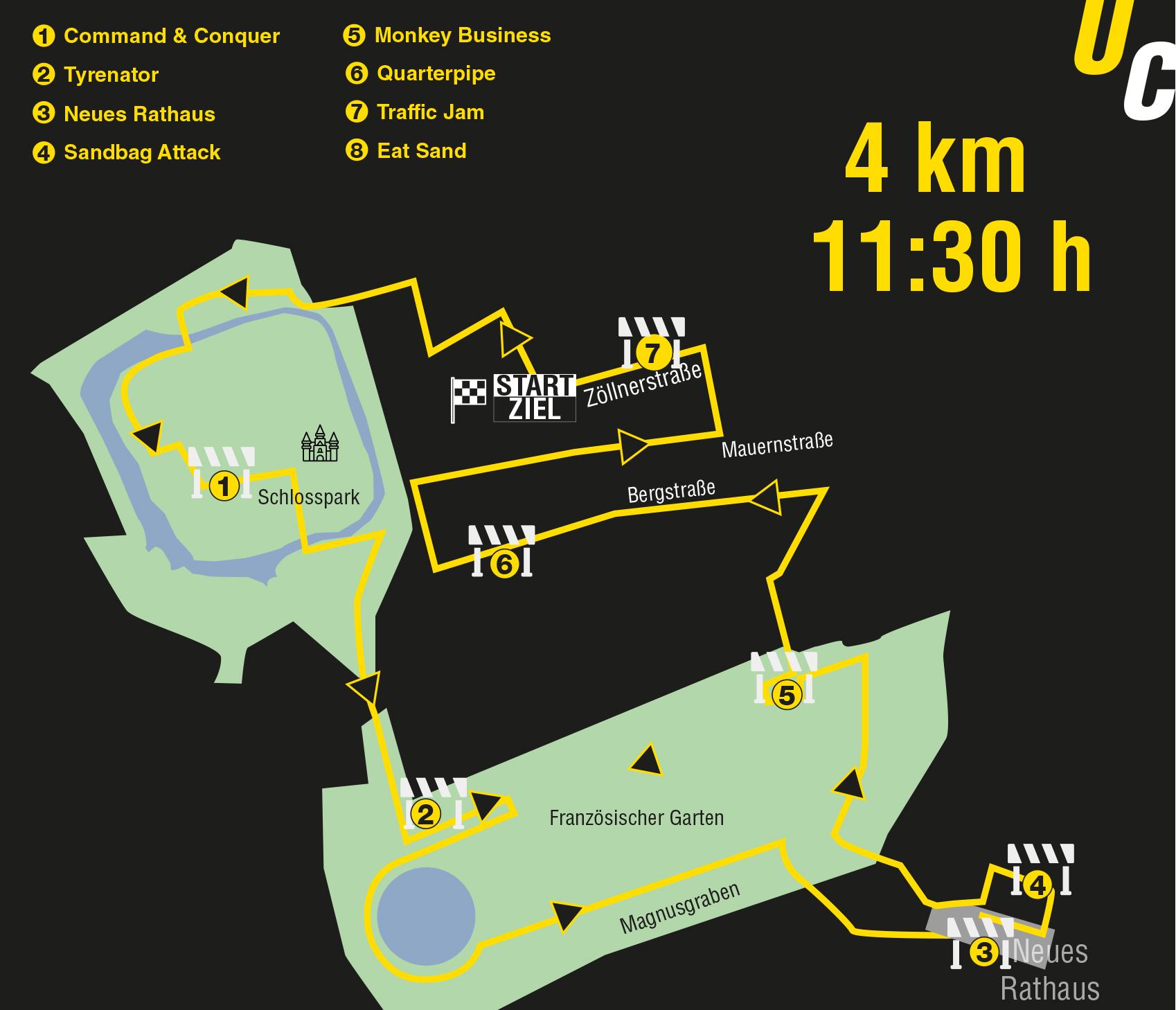 Urban Challenge Celle Strecke 4km