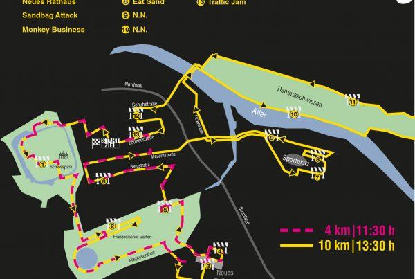 Urban Challenge Celle Strecken 4km und 10km